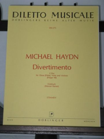 Haydn M - Divertimento in C arr Rainer W